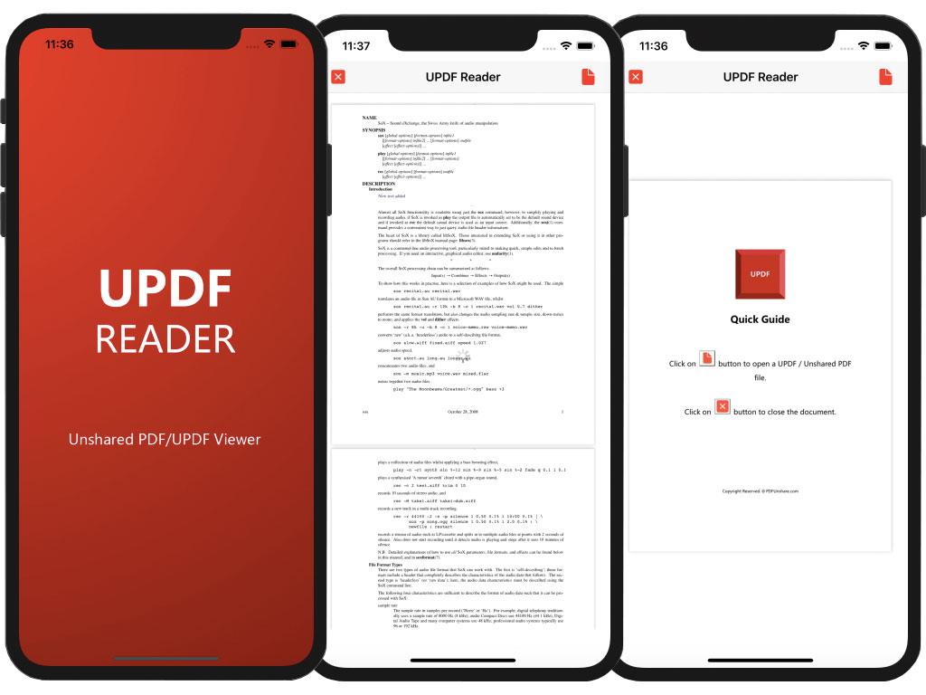 UPDF Reader iOS full screenshot